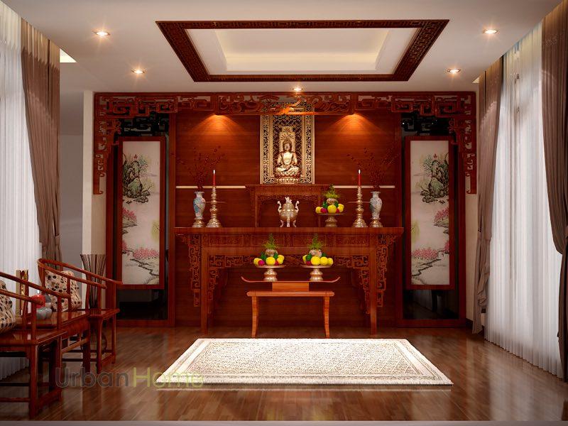 Mẫu thiết kế nội thất cho phòng thờ nhỏ đẹp