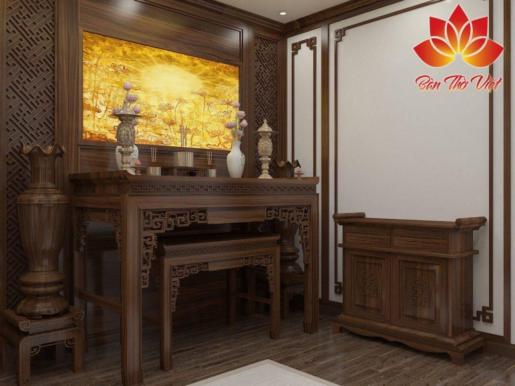 Cách bố trí phòng thờ đẹp HỢP phong thủy theo phong cách Á Đông