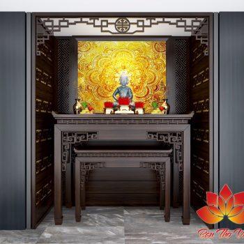 Phòng thờ Phật tử đậm chất Á Đông