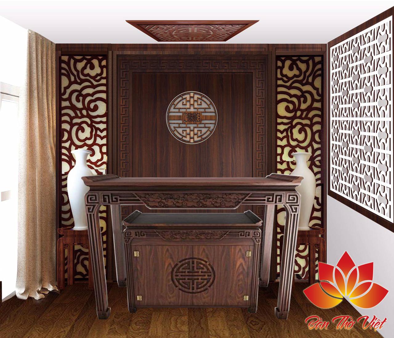 Tổng hợp các mẫu vách phòng thờ đẹp cho không gian thờ cúng sang trọng