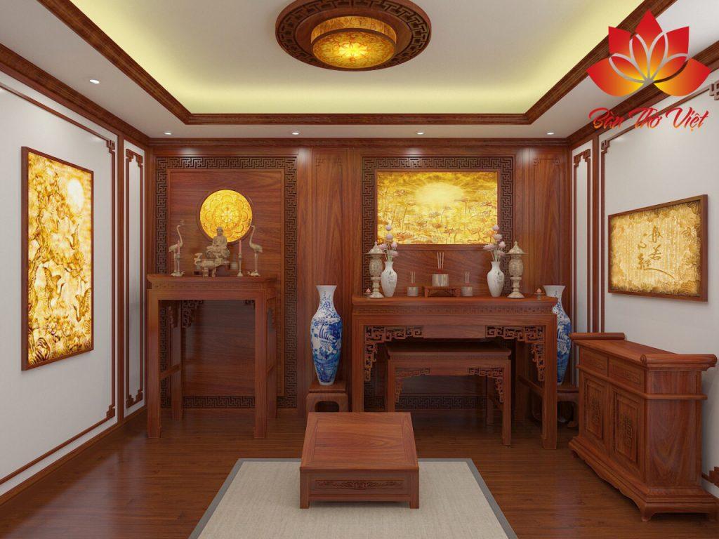 Mẫu thiết kế nội thất phòng thờ gia đình đẹp 'CHUẨN' phong thủy
