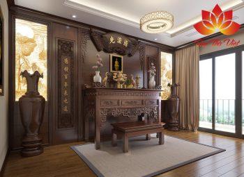 Tổng hợp các mẫu nội thất phòng thờ đẹp được thiết kế ấn tượng