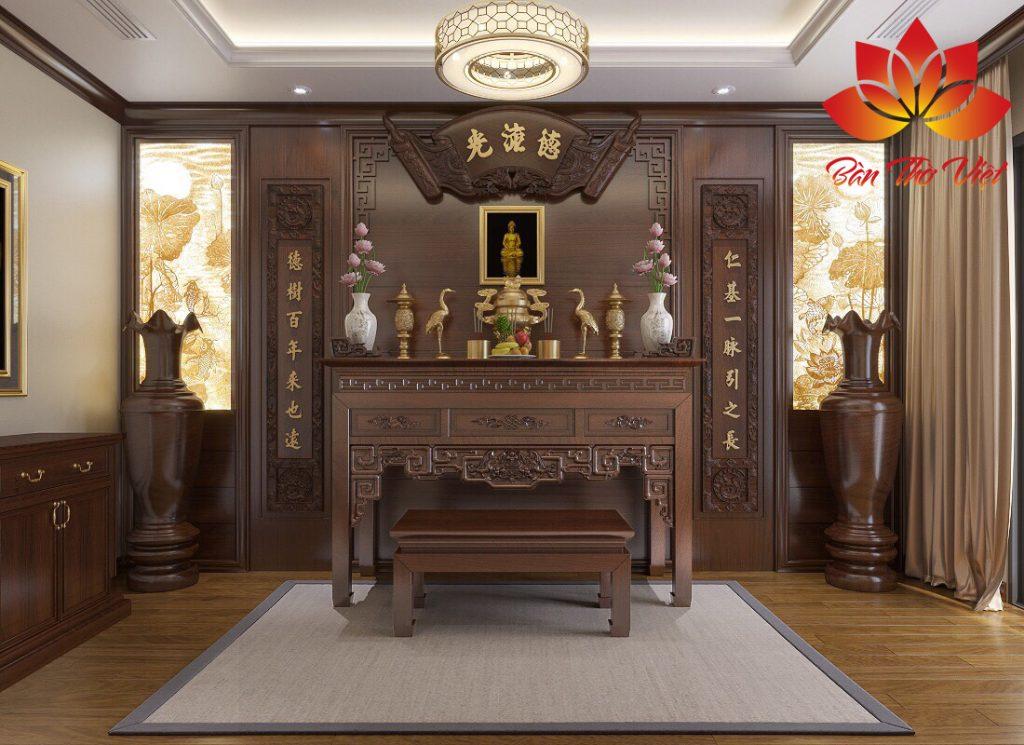 Mẫu thiết kế phòng thờ ở Vĩnh Phúc Siêu Sang, Chuẩn phong thủy