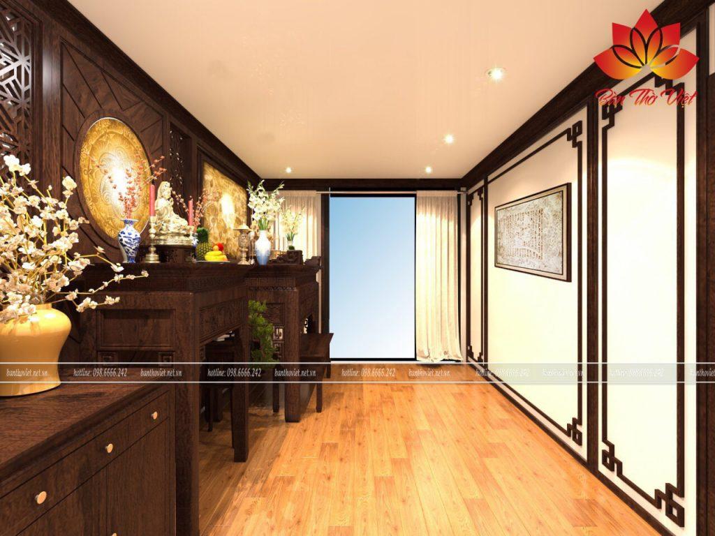 Mẫu thiết kế phòng thờ đẹp cho chung cư mini