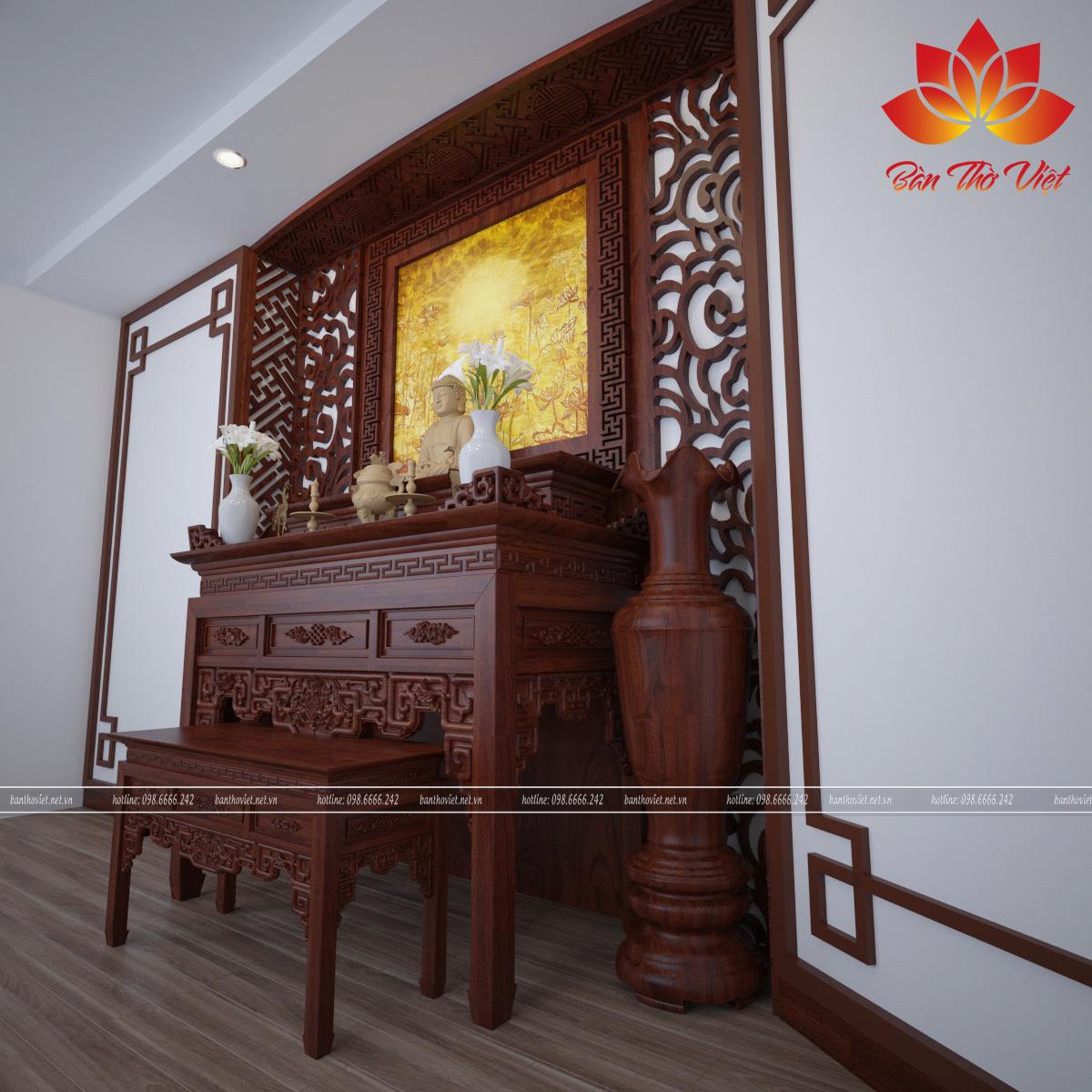 Các thiết kế từ hiện đại đến cổ điển tùy theo yêu cầu của mỗi khách hàng với dịch vụ phòng thờ ở Gia Lâm