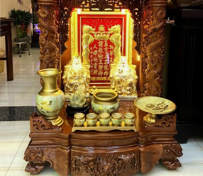 Vị trí đặt bàn thờ ông Địa, thần Tài
